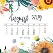 Freebie: skrivebordskalender for august